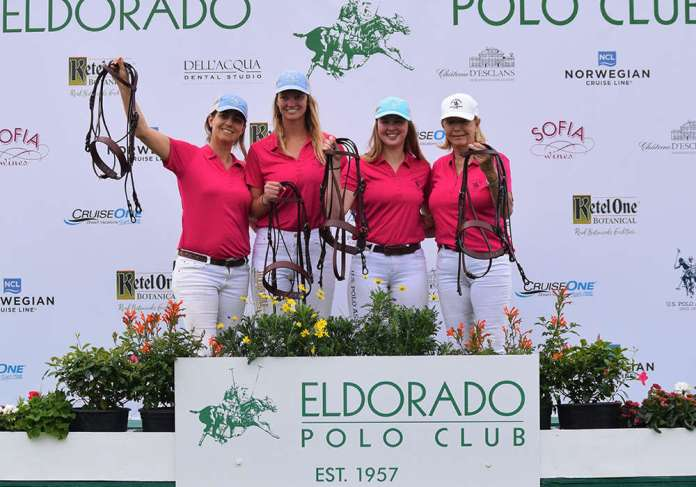 B Flight Winners, Santa Barbara Polo & Racquet Club (L to R): Melanja Jones, Mia Bray, Cory Williams, Judith Baker ©Kerri & Hope Kerley