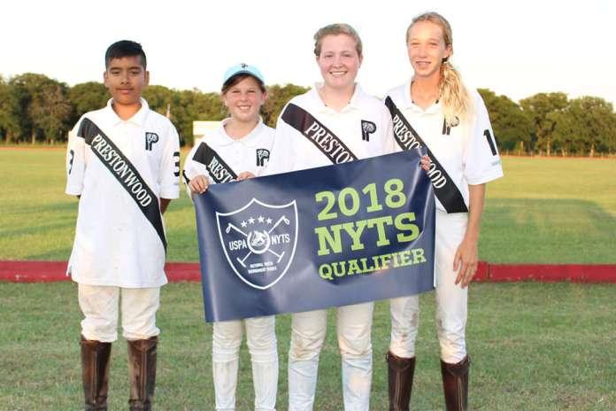 B Flight winners Prestonwood White (L to R) Gerardo Obregon, Tori Summers, Madeline Richter, Lucy Walter.