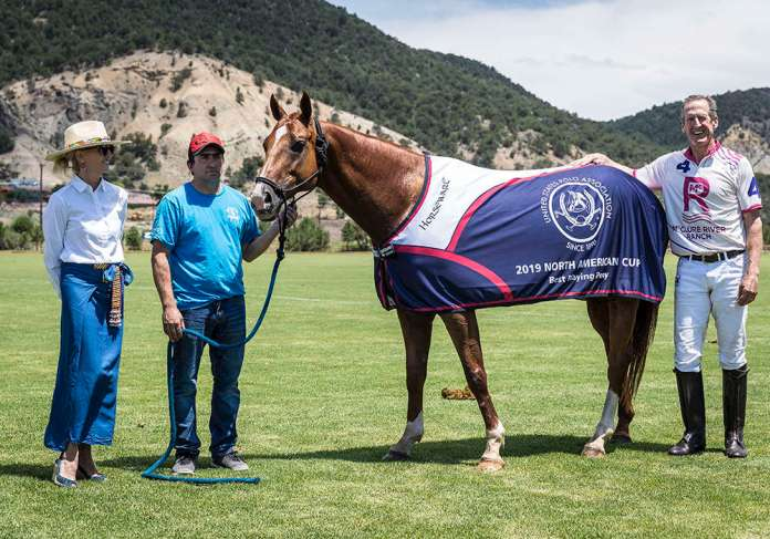 Stewart Armstrong's Best Playing Pony Linador in the 2019 North American Cup®©Nick Tininenko.
