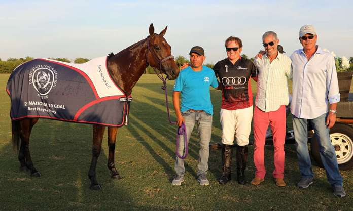Best Playing Pony Malapata Gemma, played by Marc Ganzi and owned by Halo Polo. Pictured with Dale Smicklas and Leonel Dolores.