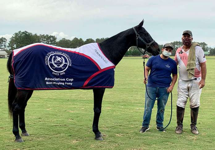 Best Playing Pony: Maleficent, played and owned by Tommy Biddle, pictured with Hernan Ledesma.
