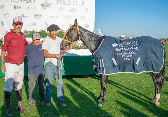 Best Playing Pony: Sorpressa - played and owned by Santi Trotz, pictured with Hernan Gauna and Margarito Flores.