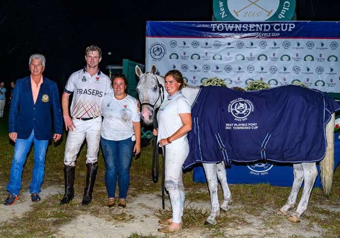 Best Playing Pony was awarded Samurai, played by Eden Ormerod and owned by Liv Berube. Pictured with USPA Southeastern Circuit Governor Billy Raab, Lydia Jo-Roof, Liv Berube.