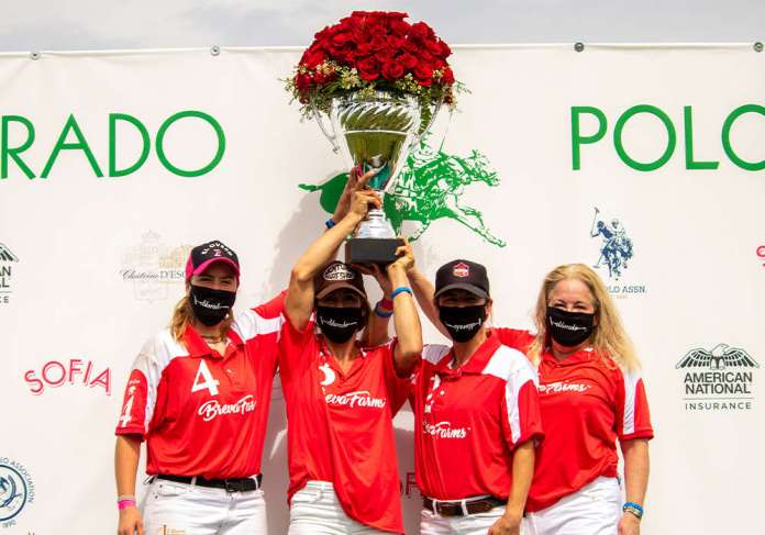 2-Goal Spreckels Cup Champions: Breva Farms - Sofia Lorenzo, Catlin Dix, Audrey Persano, Lesa Slaughter.