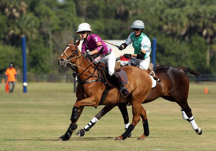 Hope Arellano playing for Dundas in the U.S. Women's Open Polo Championship®.