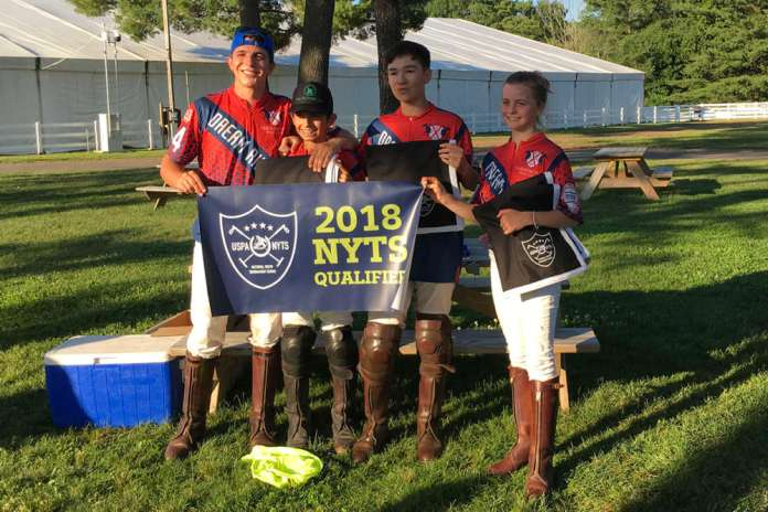 Farmington NYTS qualifier champions Red (L to R) Joe Post, Josh Escapite, Winston Painter, Sophia DeAngelis.