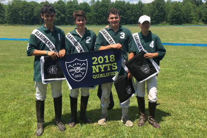 Gardnertown Polo Club NYTS Qualifier champions Gardnertown Polo (L to R) Oliver Wieser, Matt Chaux, John Dencker, Winston Painter.