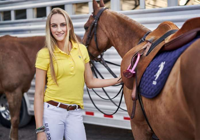 U.S. Polo Assn. Global Brand Ambassador and Team USPA Member Hope Arellano is the highest rated women's American player holding an 8-goal handicap. ©United States Polo Association