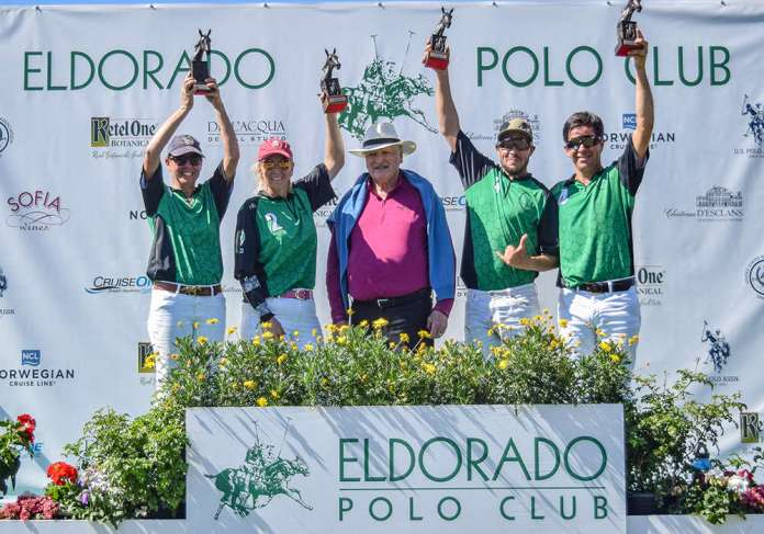 2020 Pacific Coast Circuit Constitution Cup Champions: Luna Polo - Hannah Taylor, Jennifer Alexy, Diego Larregli, Ernie Ezcurra, presented by Fred Mannix.