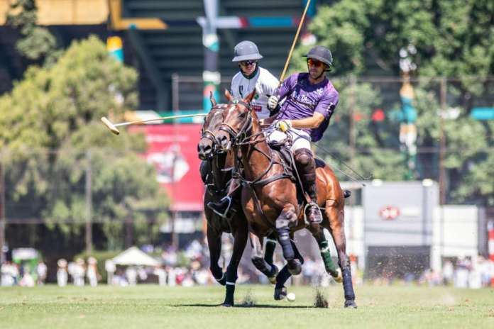 Two Americans in the Argentine Open: La Cañada Daily Racing Form's Jared Zenni and Nic Roldan of La Albertina Abu Dhabi battle for possession.