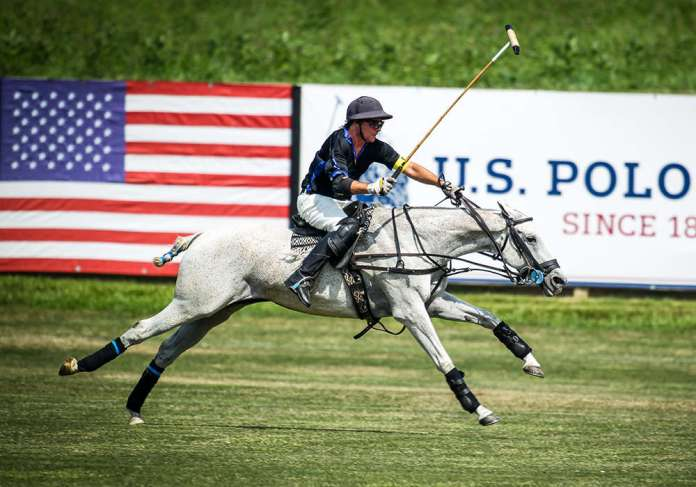 Hawkwood's Leandro Berrios on a breakaway riding Best Playing Pony Nuvi.
