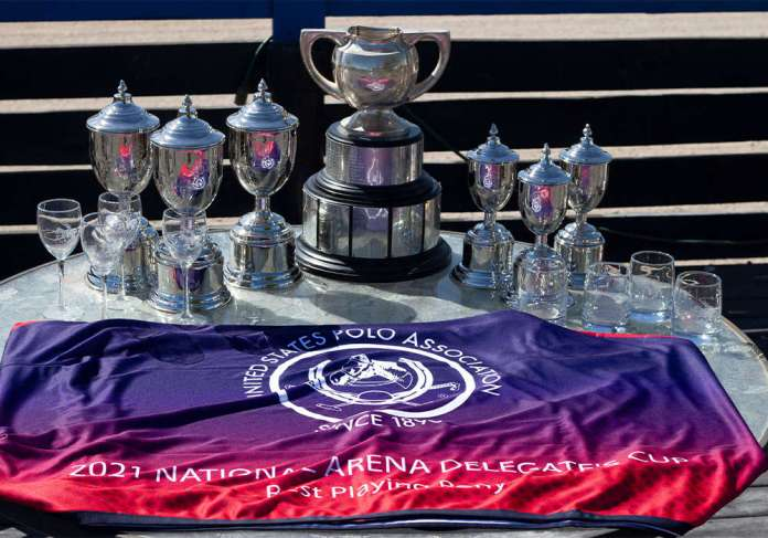 2021 National Arena Delegate's Cup trophy table presentation.