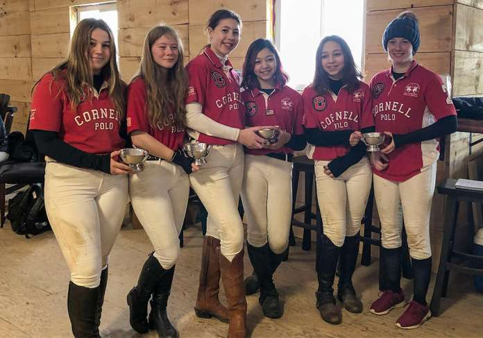 Northeastern Interscholastic Girls' Preliminary Champions: Cornell (L to R) Christina Beebe, Phoebe Whitham, Charlotte Hay, Chloe Chong, Lara Chong, Susanna Manns