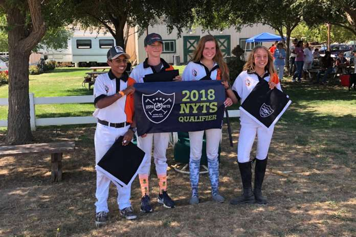 South Bay NYTS Qualifier champions South Bay Polo Club (L to R) Ajay Moturi, Jack Whitman, Katie Kriege, Sara Espy.