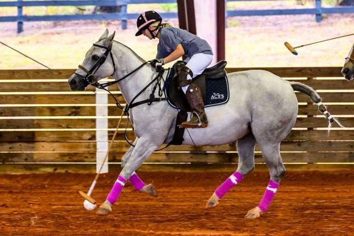 Summer Kneece competing in a USPA Middle School tournament in Aiken, South Carolina. ©Lawrence Johnson.