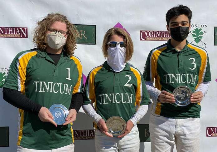 Northeastern Circuit I/I Club Challenge Cup Champions: Tinicum Park Polo Club- Owen Halliday, Daniel Arnold, Abdullah Chaudhry.