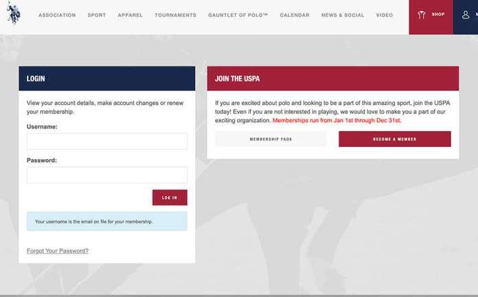 log in page member portal
