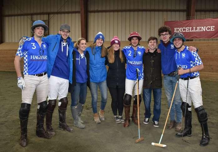 University of Kentucky women's and men's polo team members.