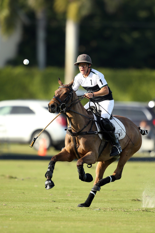 Bill Ballhaus competing at the 18-goal level at the International Polo Club Palm Beach in Wellington, Florida. ©David Lominska