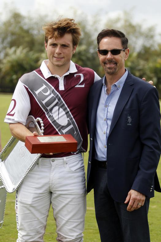 Most Valuable Player: Matias Gonzalez, pictured with USPA CEO Bob Puetz.