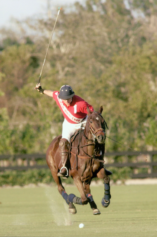 Jimmy Newman in action during the last tournament he played in 2005 at Outback Polo Club.