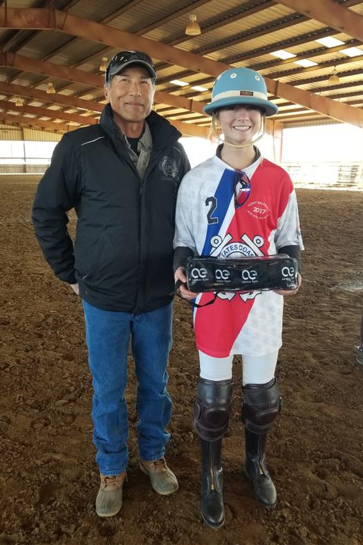 Robert LKC presents Horsemanship award to Lily Forreger web