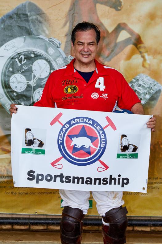 Catena Sportsmanship Award Winner Servando James McHazlett.