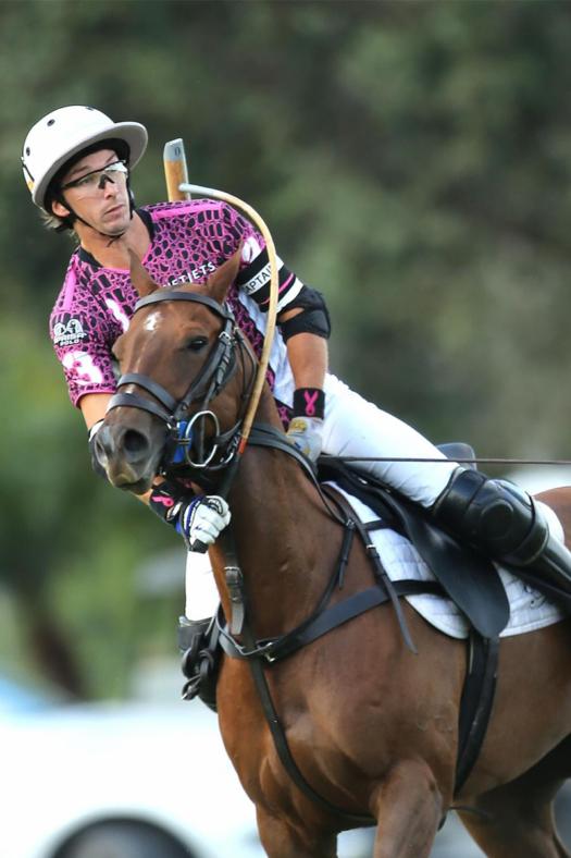 "Jorge ""Tolito"" Fernandez Ocampo Jr. hitting the neckshot at the International Polo Club Palm Beach."