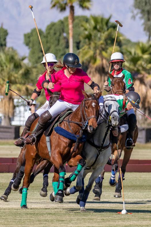 Santa Barbara's Cory Williams executing a ride off on La Herradura's Catlin Dix.