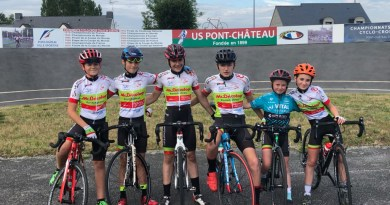 Du 4 au 7 juillet: Trophée de France des Jeunes Cyclistes , 7 pontchâtelains sélectionnés !