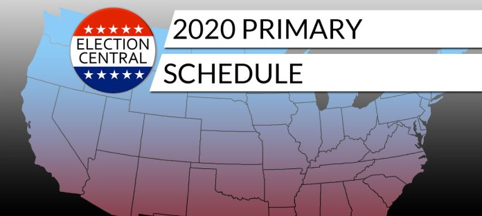 2020 Presidential Primary Schedule