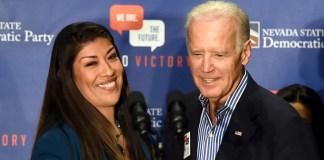 Joe Biden Lucy Flores 2014