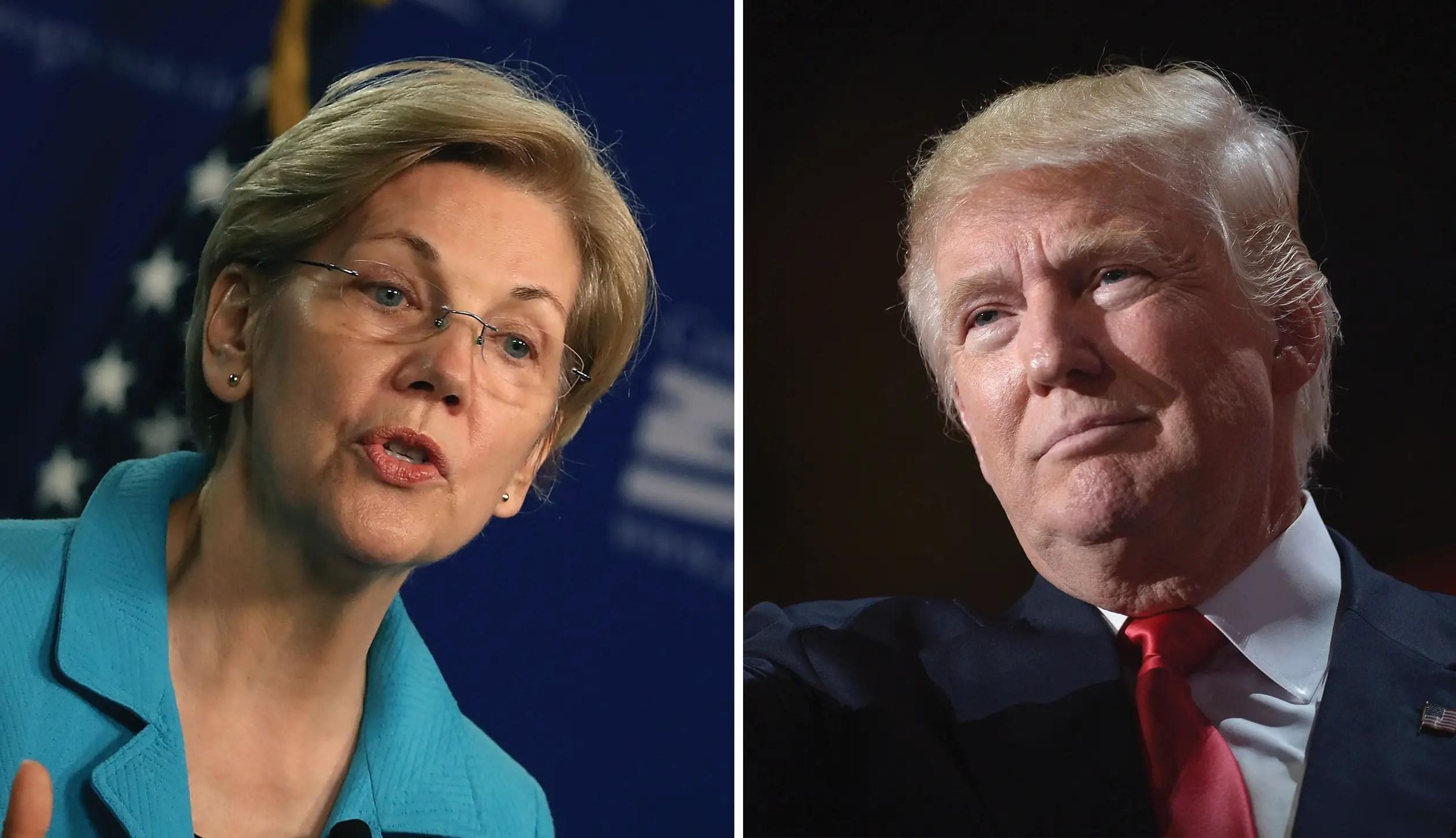 Donald Trump Elizabeth Warren impeachment