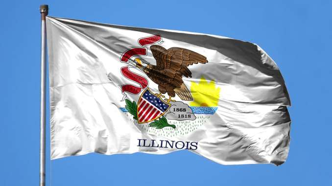 National Flag State Of Illinois