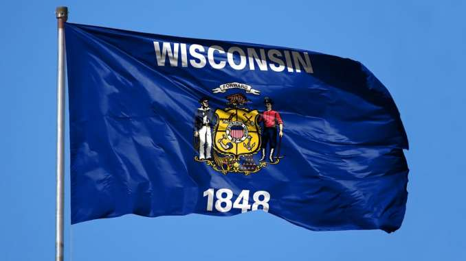 National Flag State Of Wisconsin