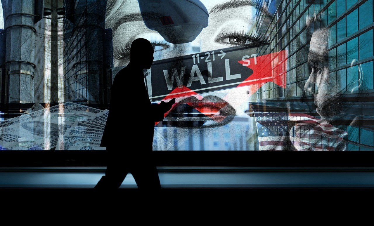 wall street, stock exchange, person