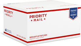 Priority Mail Medium Flat Rate Box - 1