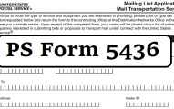 PS Form 5436