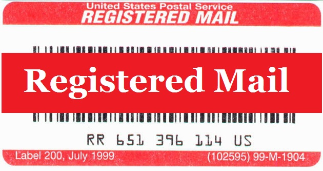 USPS Registered Mail | Cost and Return Receipt