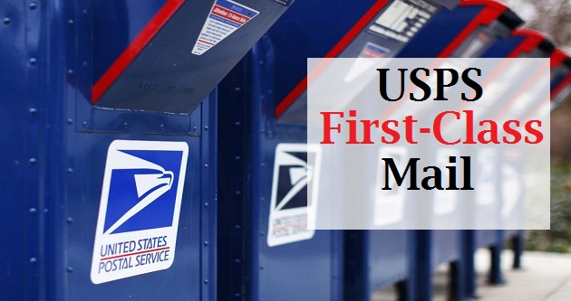 USPS First-Class Mail Service with Delivery Time