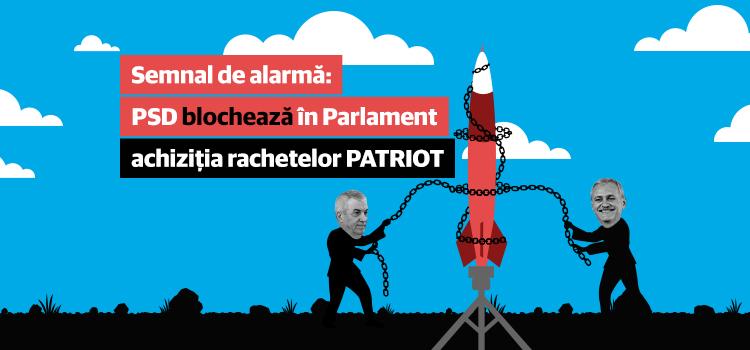 Semnal de alarmă: PSD blochează în Parlament achiziția rachetelor Patriot