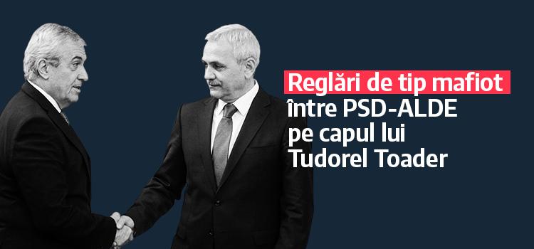 USR: Moțiunea simplă – Reglări de tip mafiot între PSD-ALDE pe capul lui Tudorel Toader