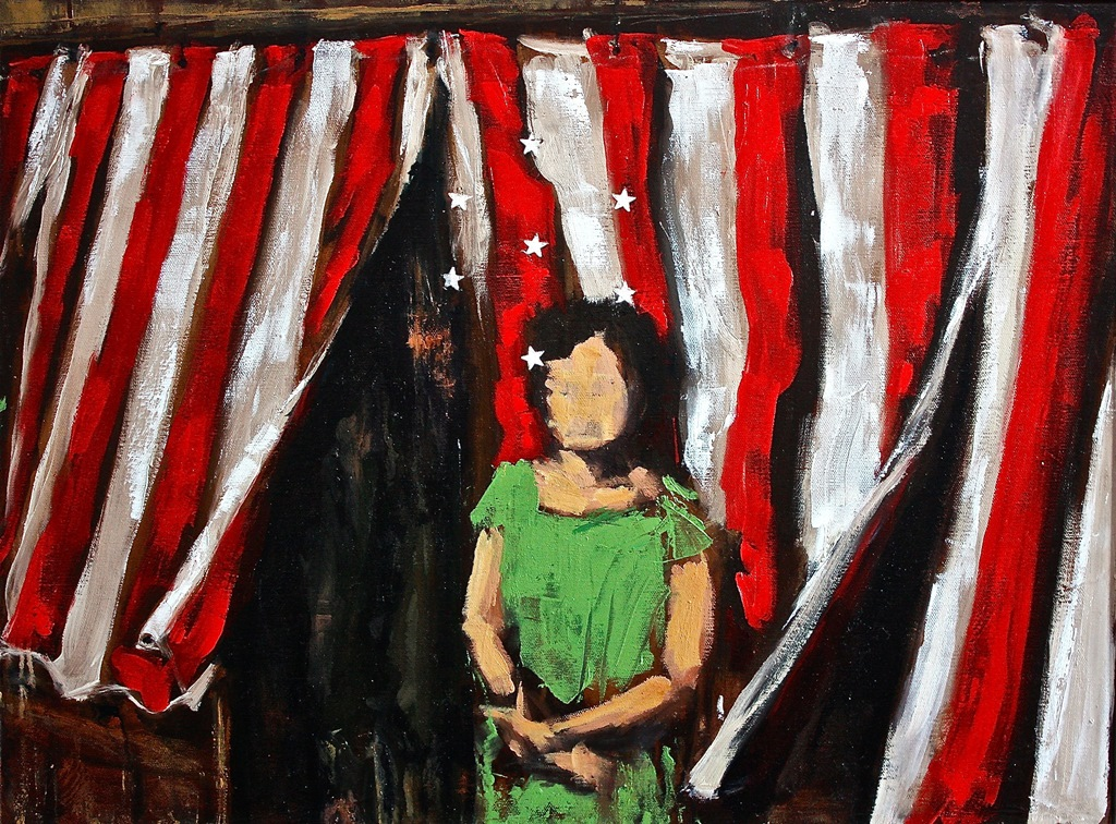Tent Revival, oil on canvas, 18 x 24, Star Dust 2013, NFS