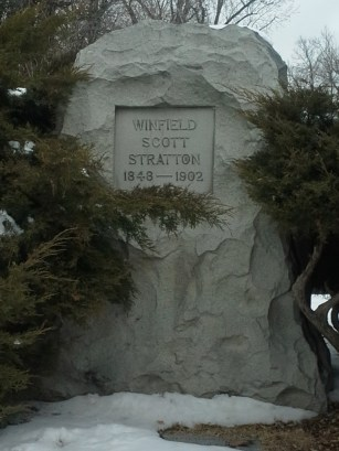 Stratton's tombstone. (Credit: DeLyn Martineau)