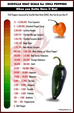 A Scoville Scale. (Credit: Chilipeppermadness.com)