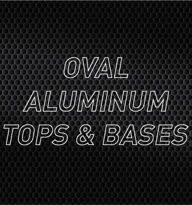 Oval Aluminum Air Cleaner Tops & Bases