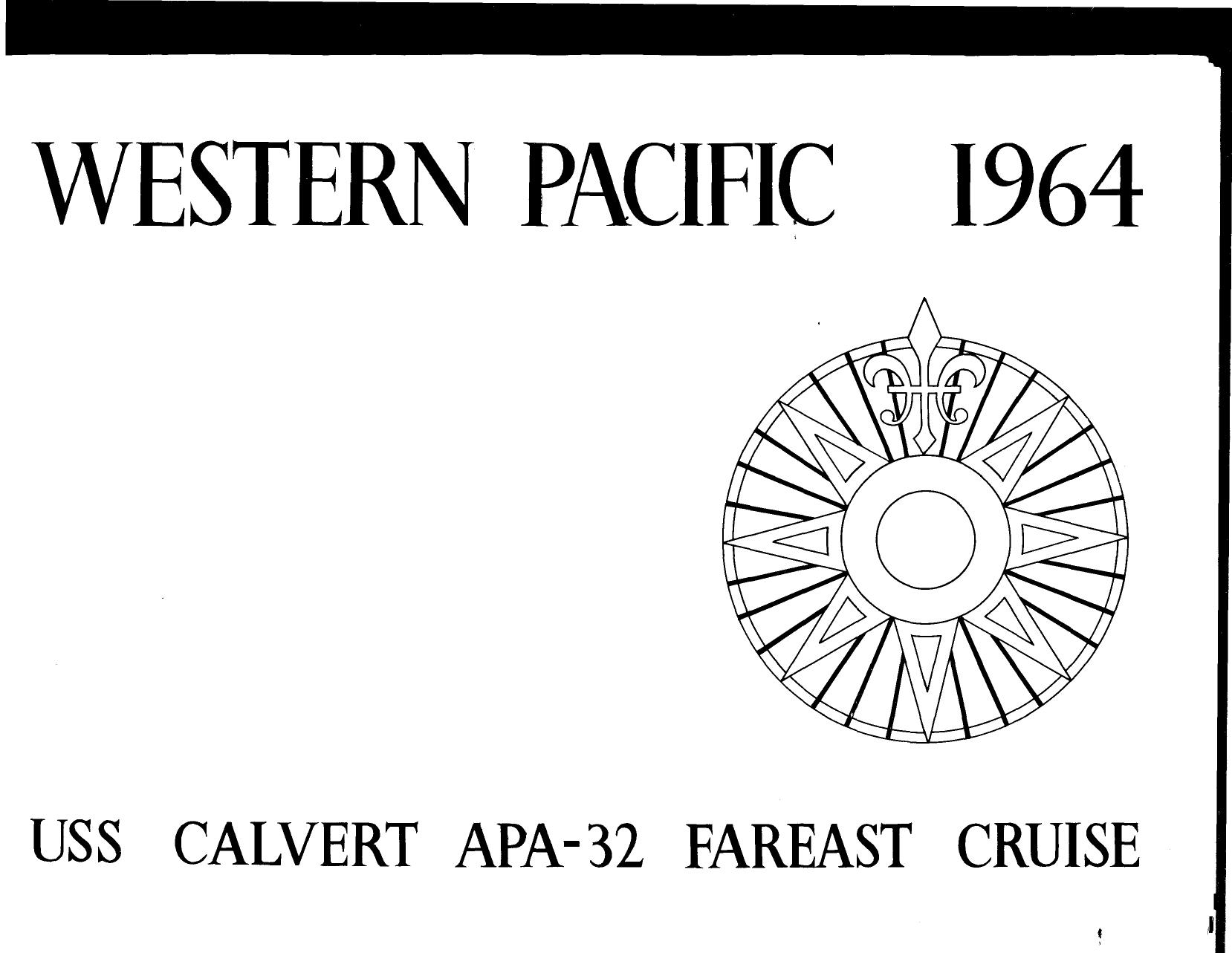 Uss Calvert S West Pacific Cruise Book
