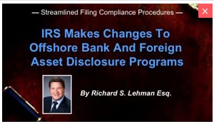 IRS Foreign Disclosure Programs