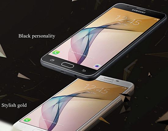 Samsung galaxy on nxt black gold