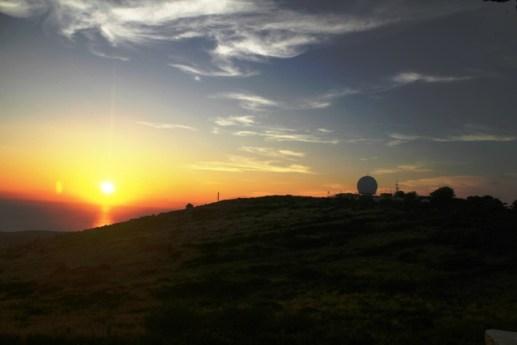 tramonto con Radar